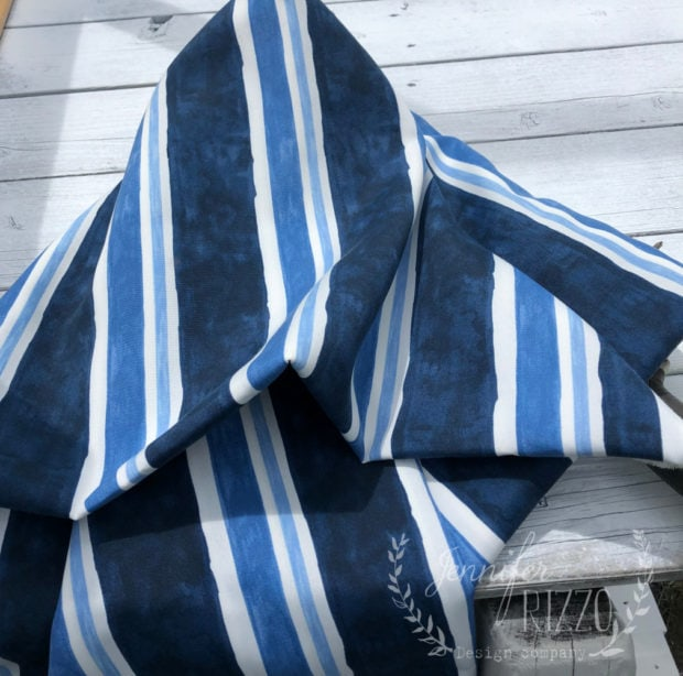 Sunbrella striped outdoor fabric for playset canopy