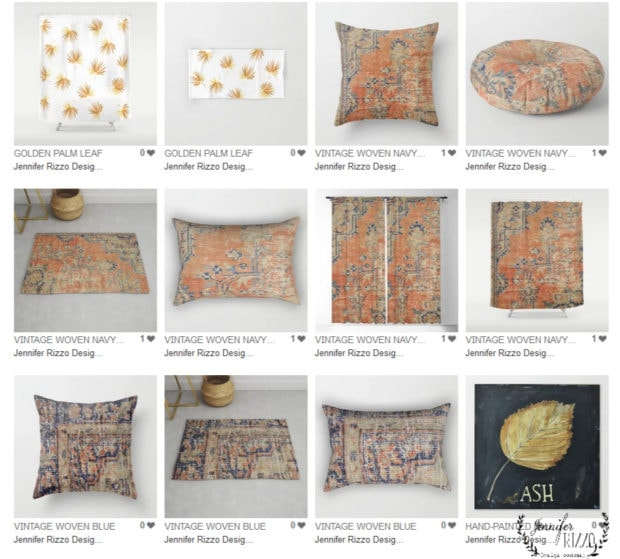 Inspired pillow designs by Jennifer Rizzo Home