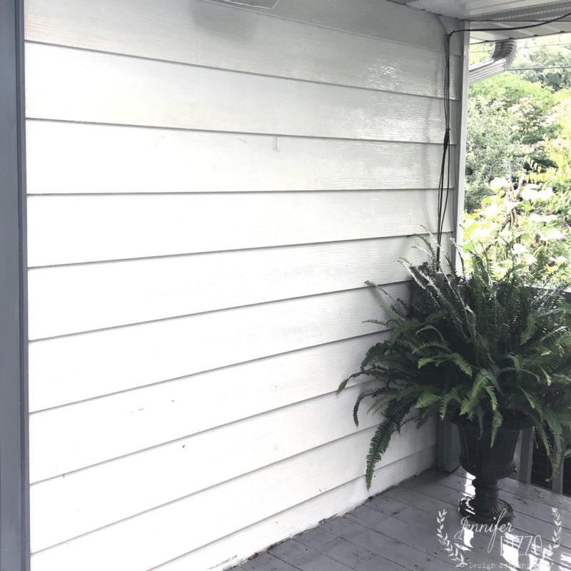 Blank area on back deck