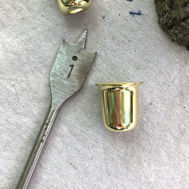 Supplies for making tree branch candle holders