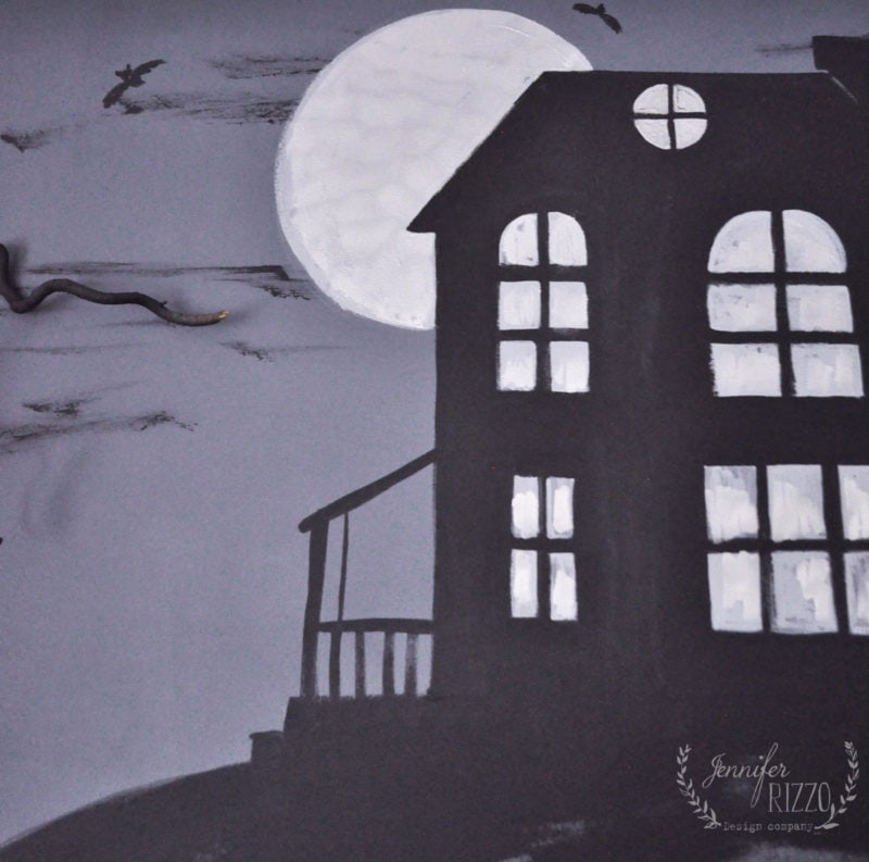 Haunted mansion painting Jennifer Rizzo