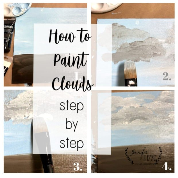 How to Paint Clouds and easy tutorial