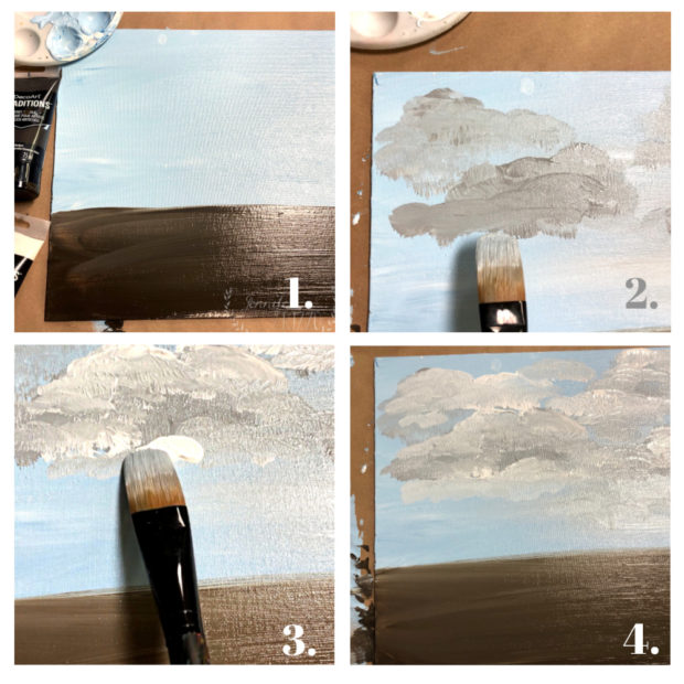 How to paint clouds tutorial