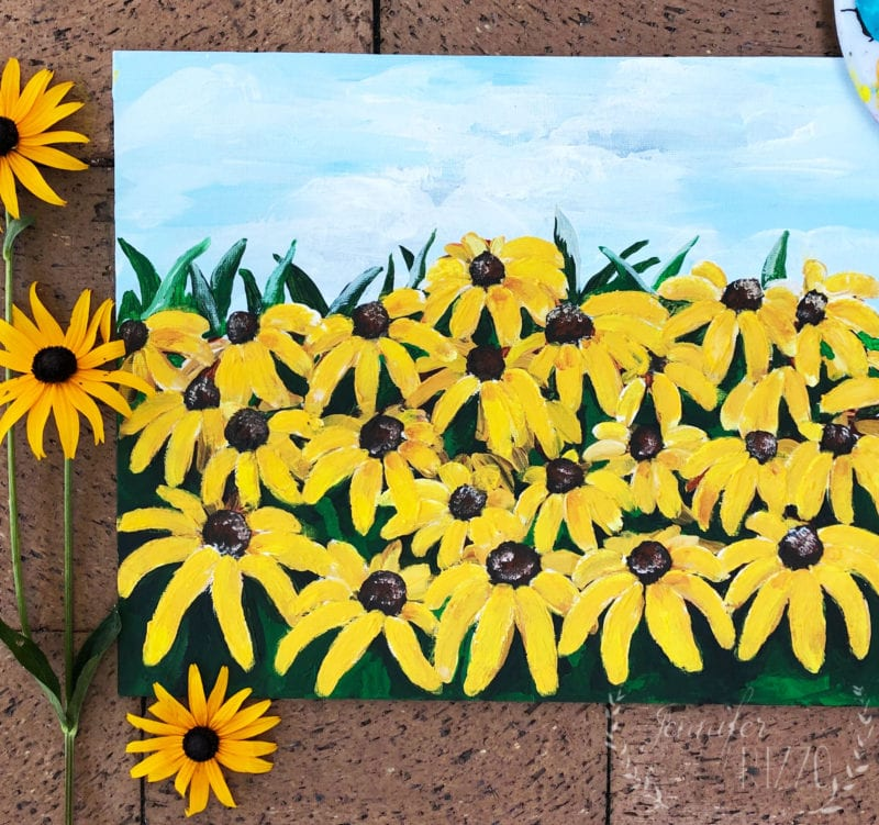 Painting of Black-eyed Susans by Jennifer Rizzo