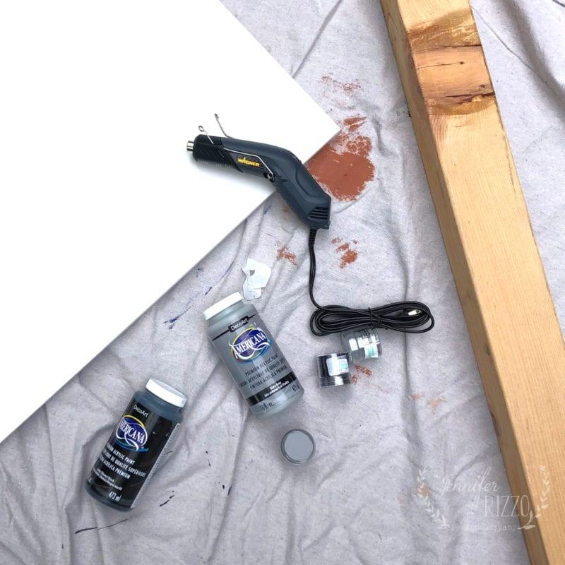 Supplies for DIY candelabra