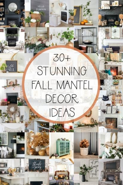 Over 30 stunning fall mantel ideas!
