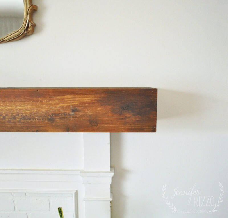 Creating a faux box rustic mantel for an old faux fireplace surround