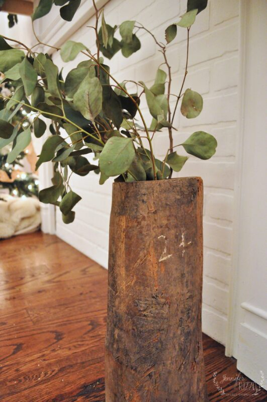 Cool vase made from a reclaimed tree limb