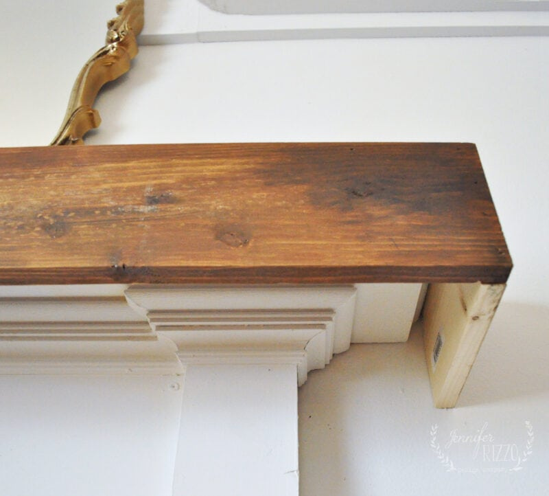 Build a rustic mantel cover for your fireplace mantel