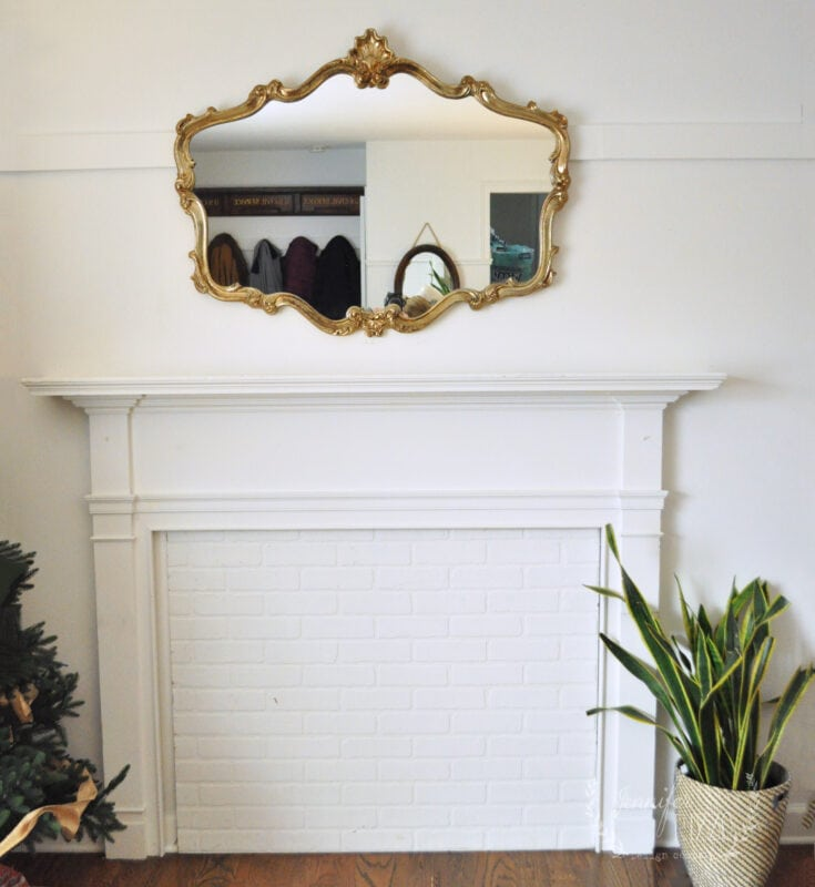 Faux fireplace surround befor adding faux box wood mantel