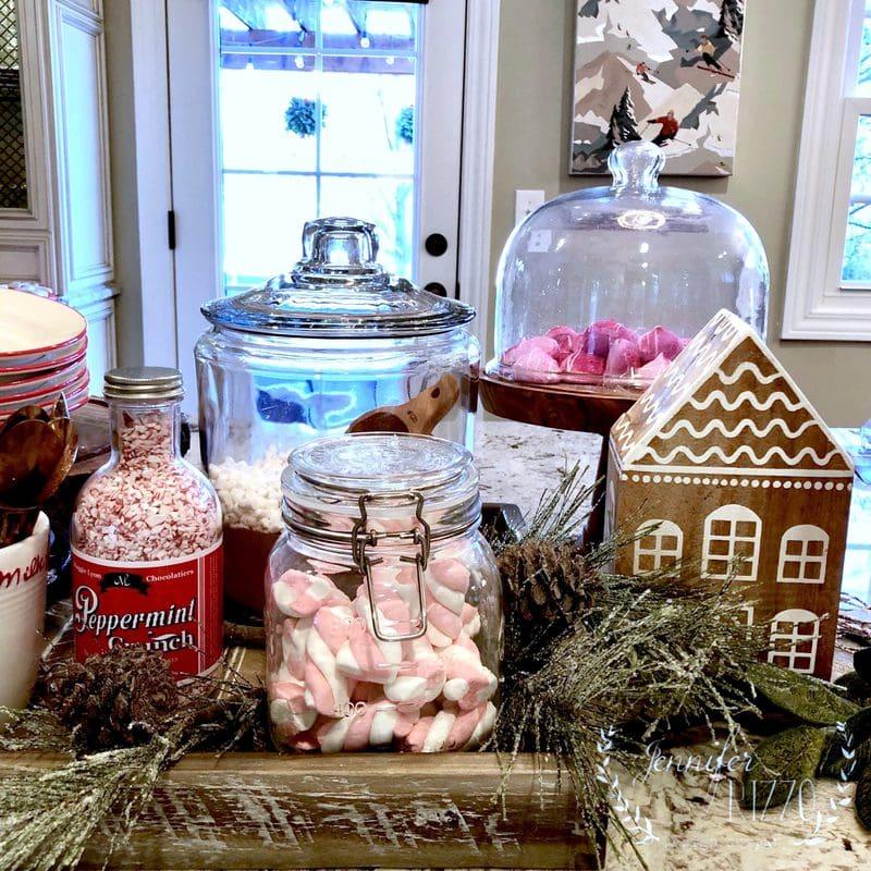 Create a Fun Hot Cocoa Bar on a Kitchen Island