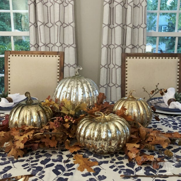 Thanksigving fall mercury glass tablescape