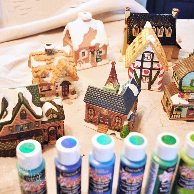 Making Thrift store holiday decor