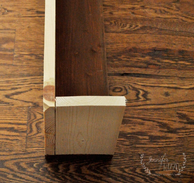 DIY faux box mantel for a faux fireplace