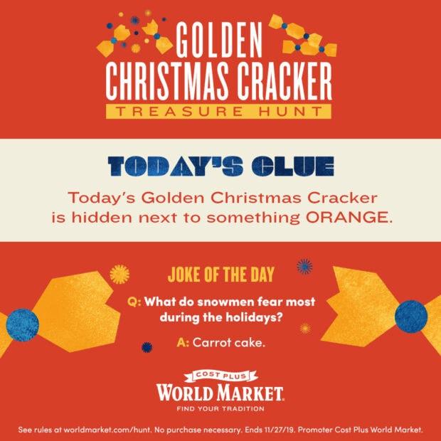 Golden Christmas Cracker Treasure Hunt