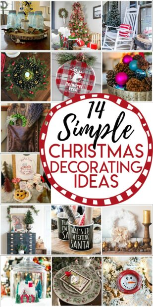 14 simple Christmas decorating ideas