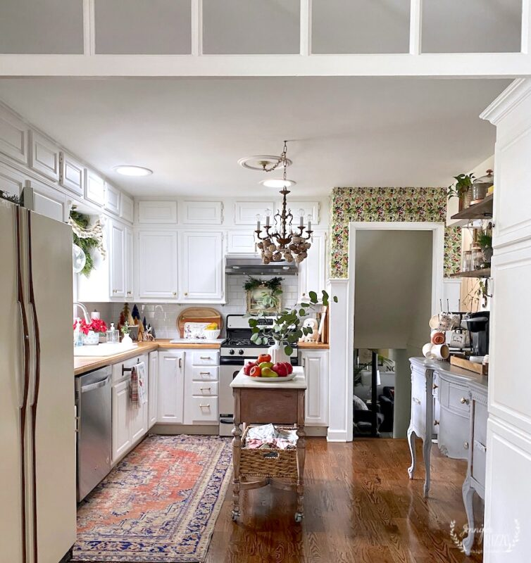 Kitchen with vintage touches in a split level home Jennifer Rizzo