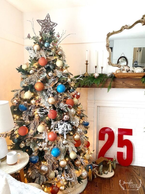 Colorful boho Christmas tree Jennifer Rizzo