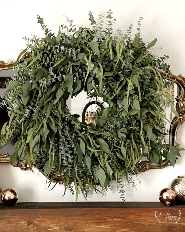 Fresh, mixed eucalyptus wreath