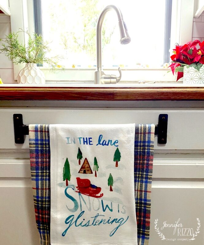 In the lane tea towel by Jennifer Rizzo