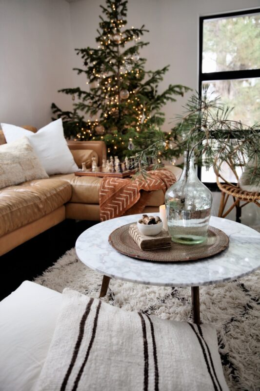 The Home of Jeanne OLiver Midecentury Modern Christmas Decor