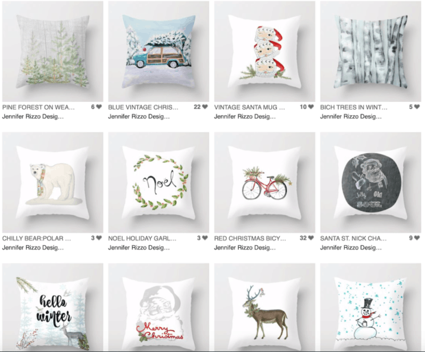Jennifer Rizzo Holiday Pillow Collection