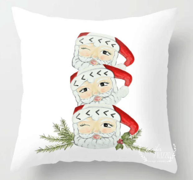 Jennifer Rizzo Santa Stack Pillow