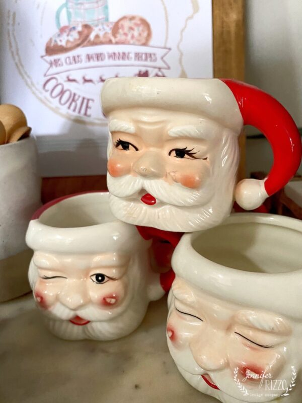 Santa mugs from Pottery barn