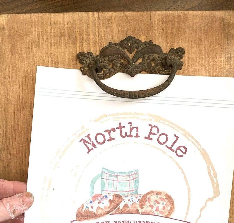Vintage Drawer Pull Clip Board