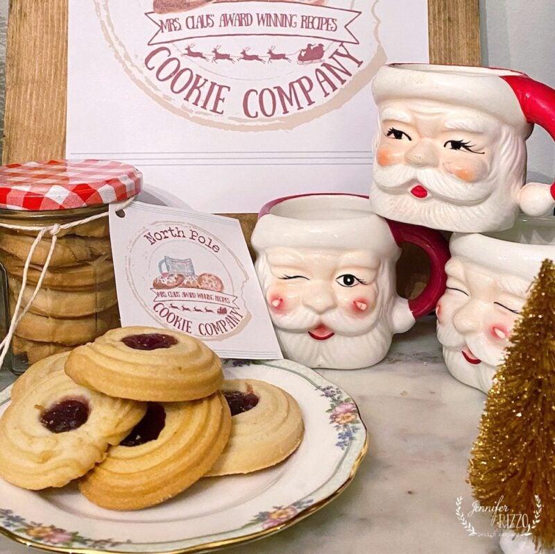 cookies and printable tags for gifting