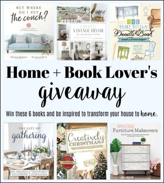 Giveaway of bloggers decorating books