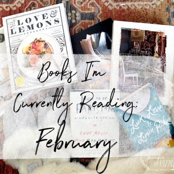 Books I'm currently reading February editionJennifer Rizzo