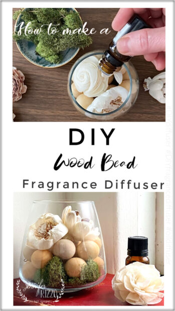 Make a DIY modern wood bead fragrance oil diffuser