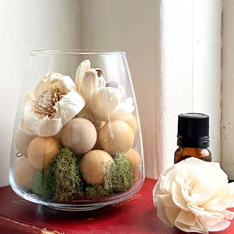DIY modern wood bead fragrance oil diffuser