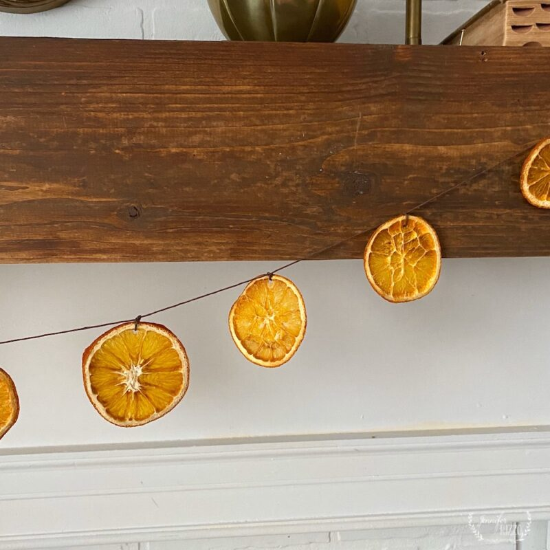 How to make a dried orange slice garland