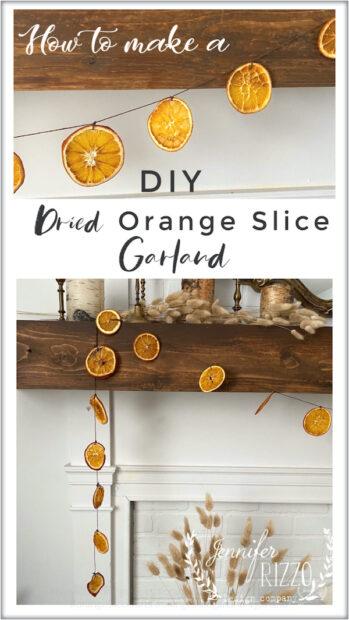 DIY dried orange slice garland