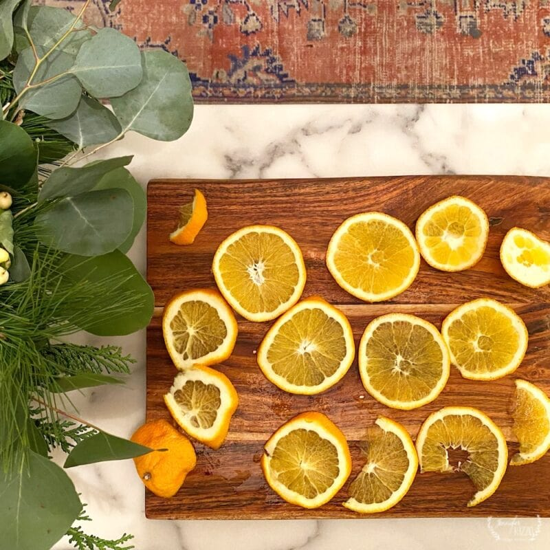 The best way to dry orange slices for decor and crafts