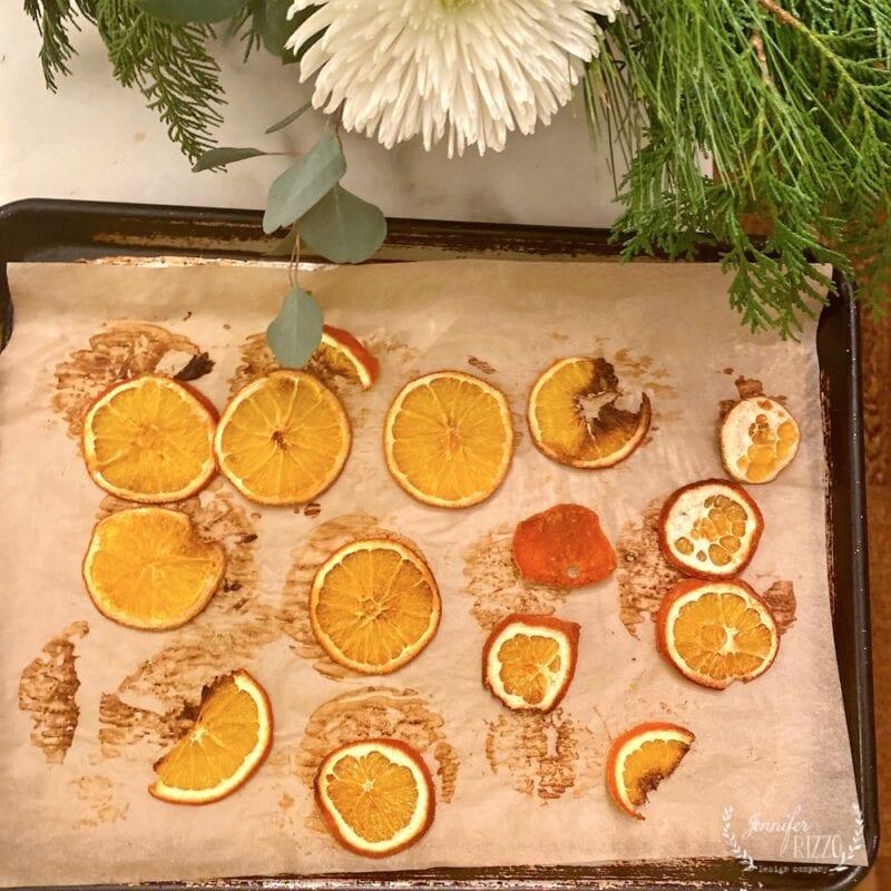 The best way to dry orange slices