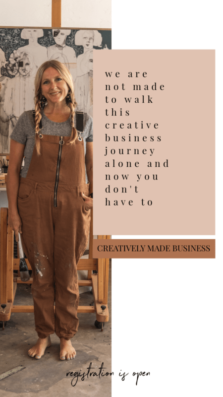 Build your Creatively Made Business with Jeanne OIiver on-line ecourse workshop for a creative business