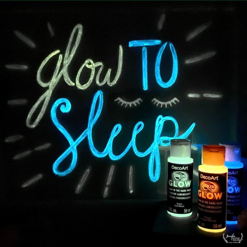 Make a DIY Faux Neon Sign with Glow in the Dark Paint