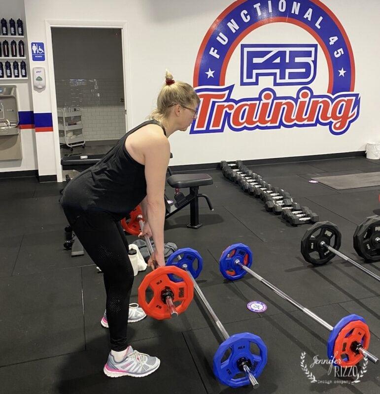 Jennifer Rizzo work out at F45
