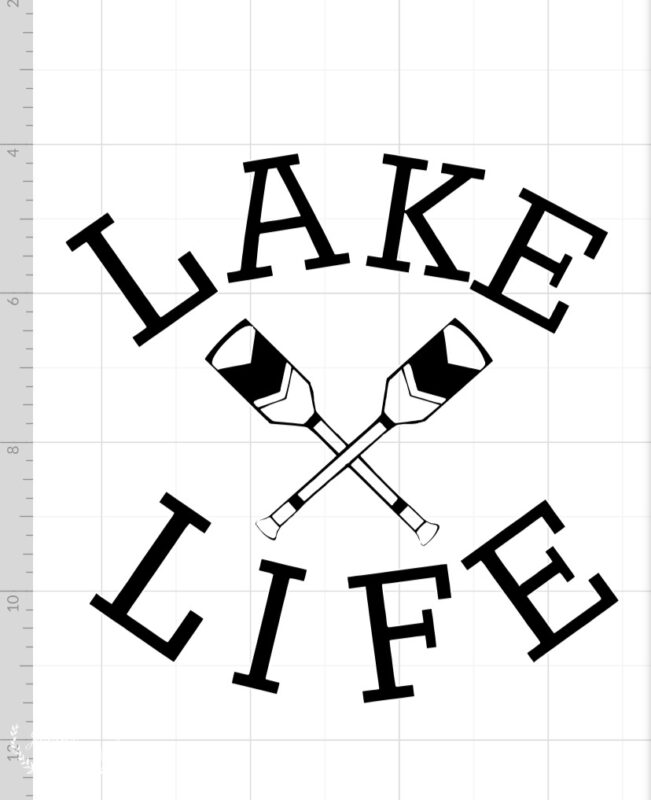 Lake life design for the Cricut
