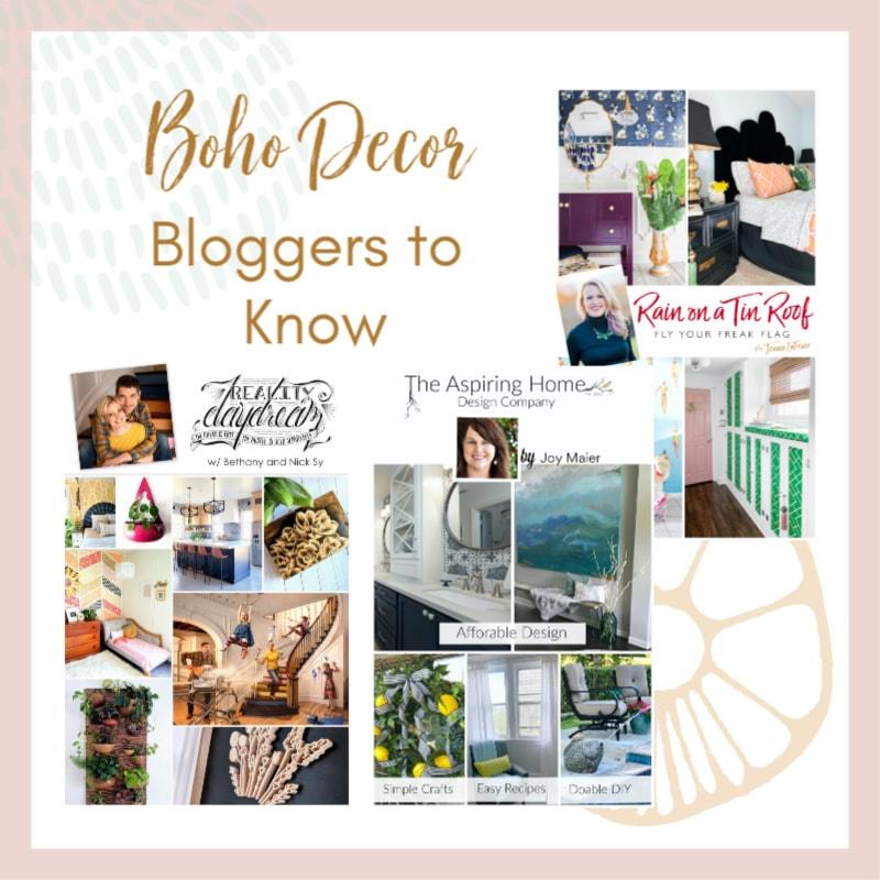 Boho Decor Bloggers You Should Know