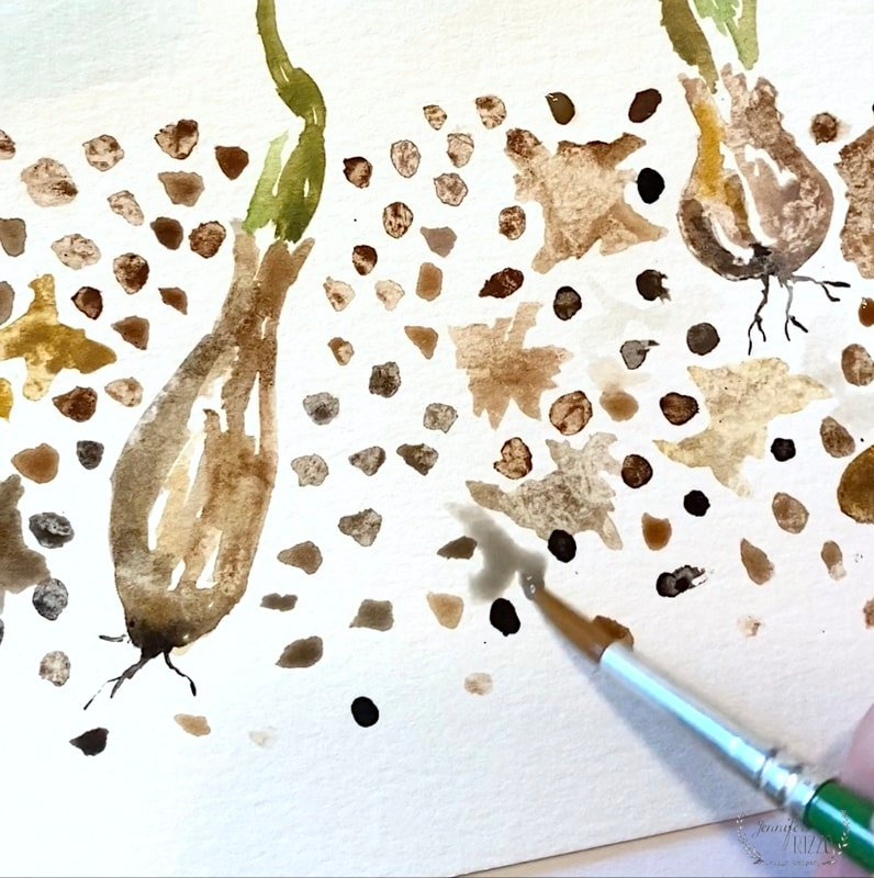 Art Journaling Spring Flowers and Bulbs Emerging Free Printable
