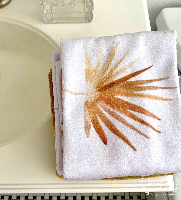 Terry Cloth Golden Fan Palm Towels by Jennifer Rizzo