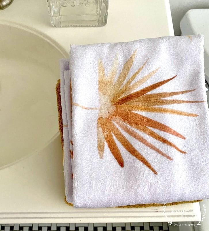 Golden Fan Palm Bathroom Makeover