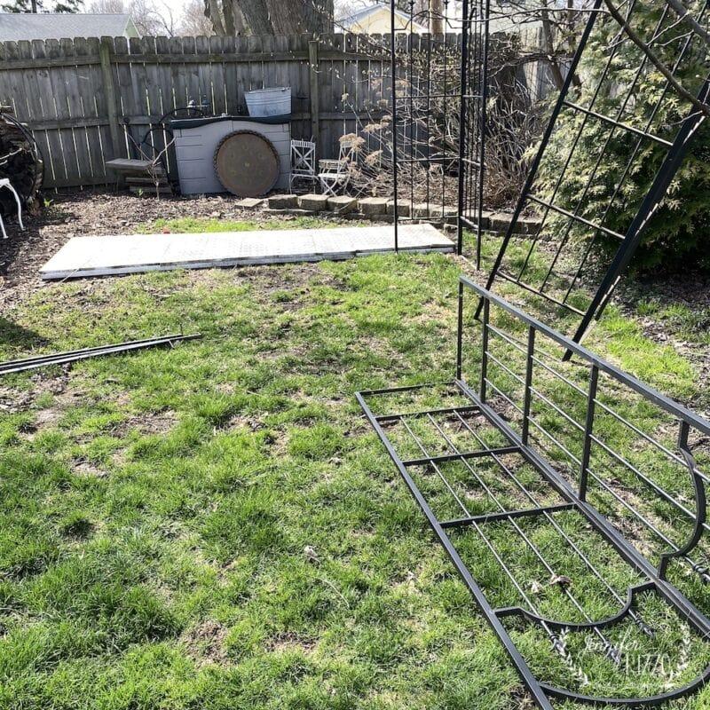 Problem backyard area before adding gazebo and platform deck