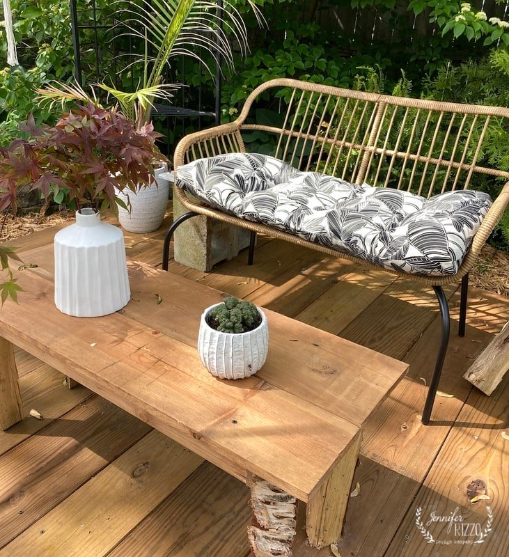 Shop Our Patio Makeover and Rattan Boho Patio Furniture