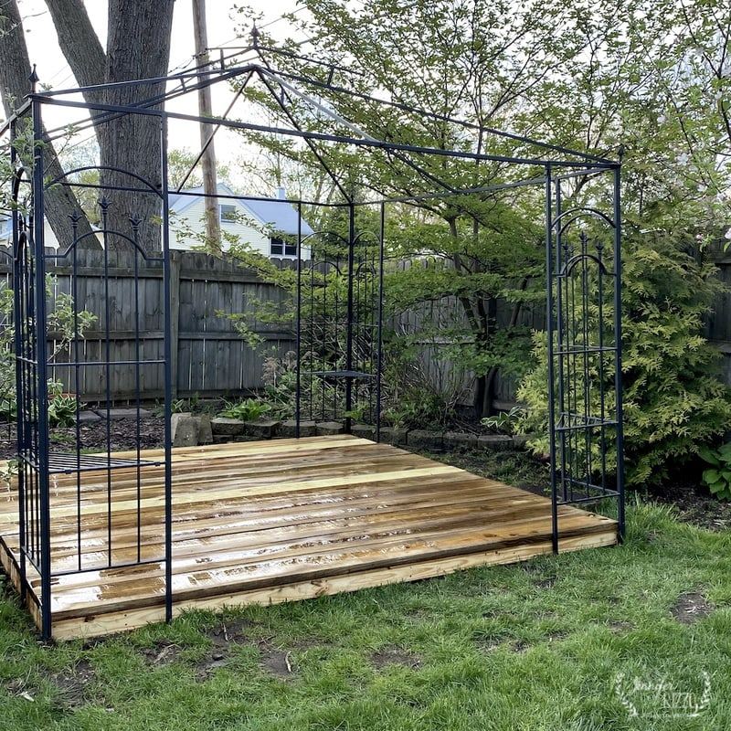 Our Metal Gazebo with a Free-Standing Platform Deck