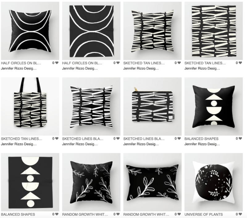 Jennifer Rizzo Design Company the Black and White Collection